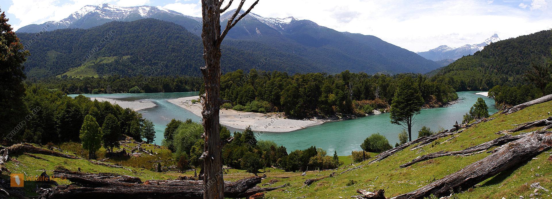 Chilenische Flusslandschaft