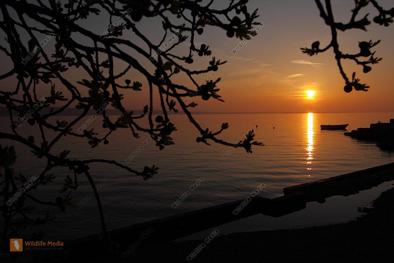 Sonnenuntergang Adria