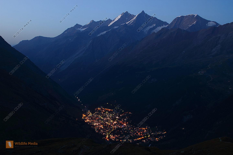 Zermatt bei Nacht