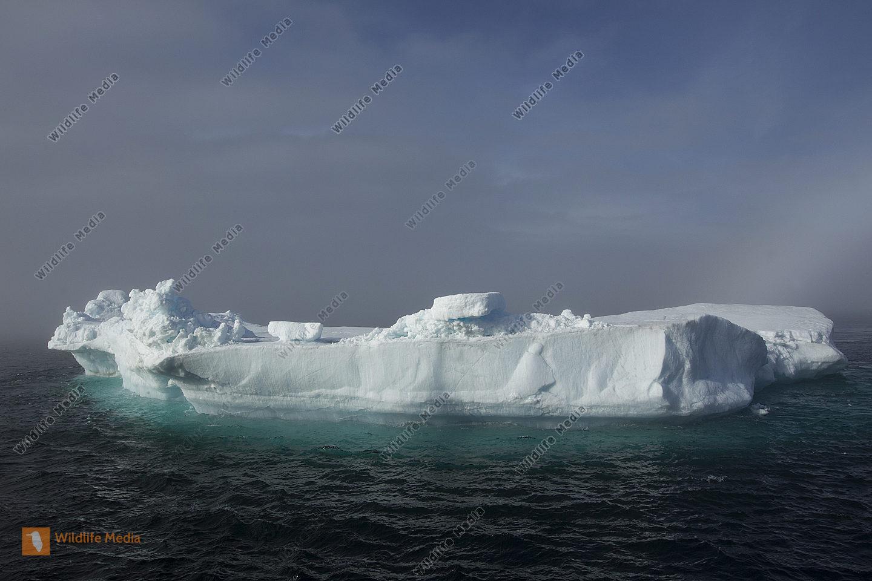 Eisberg gleitet im Polarmeer