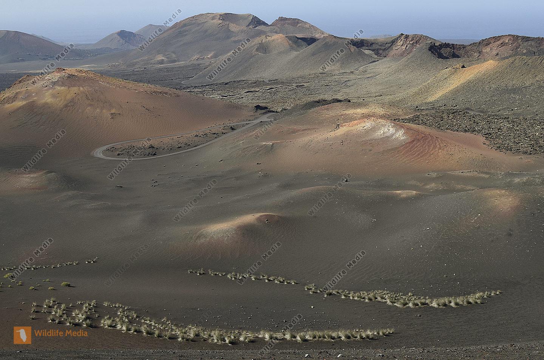 Spanien Lanzarote Vulkanische Landschaft im Timanfaya Nationapark