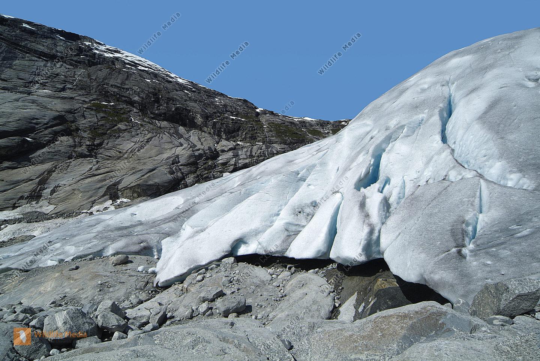 Norwegen Gletscher Nigards Breen in Jostedalen