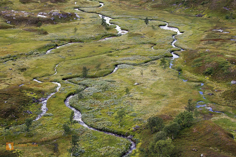 Mäander im Hochfjell