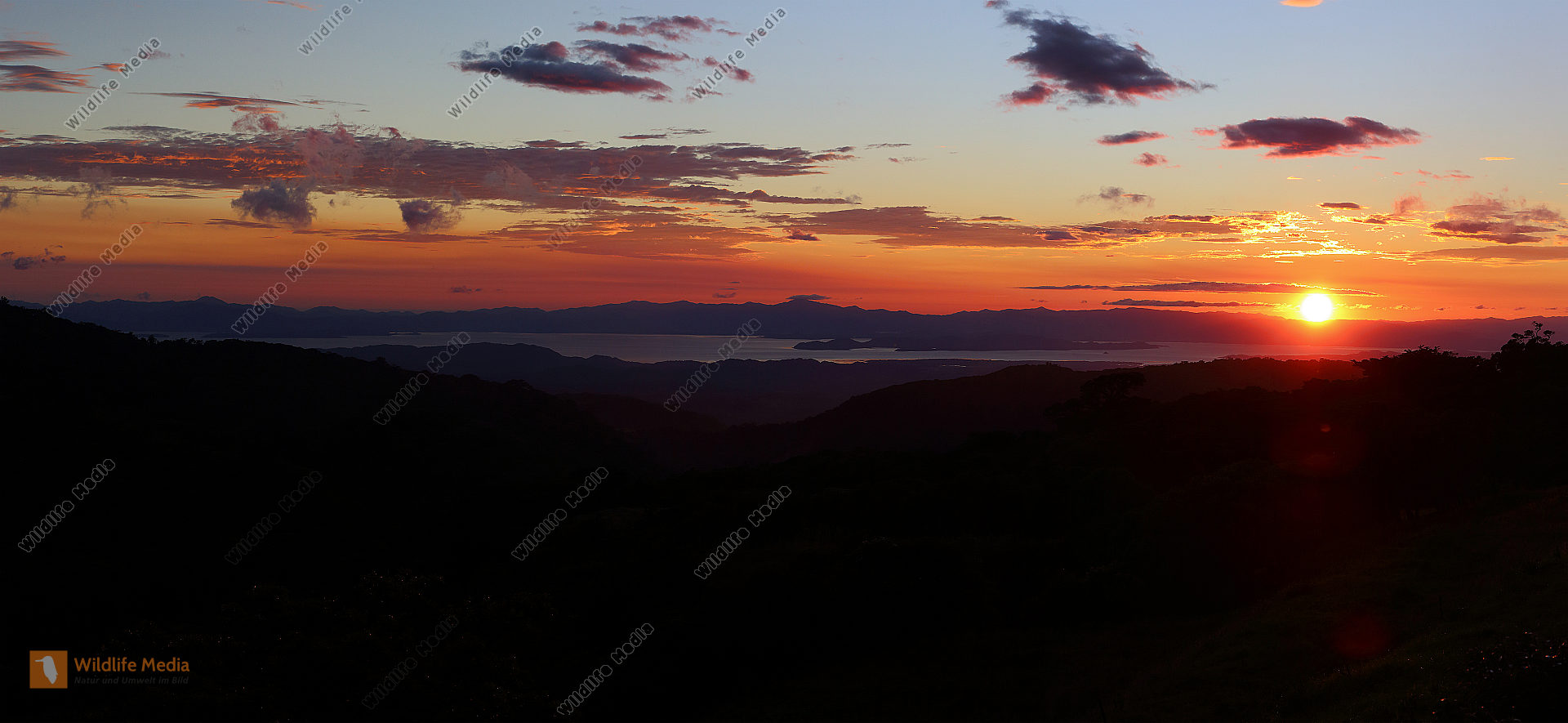 Sonnenuntergang Monteverde Panorama