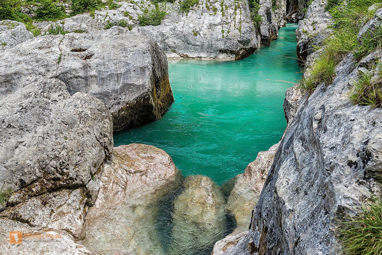 Soca Slovenien NP Triglav
