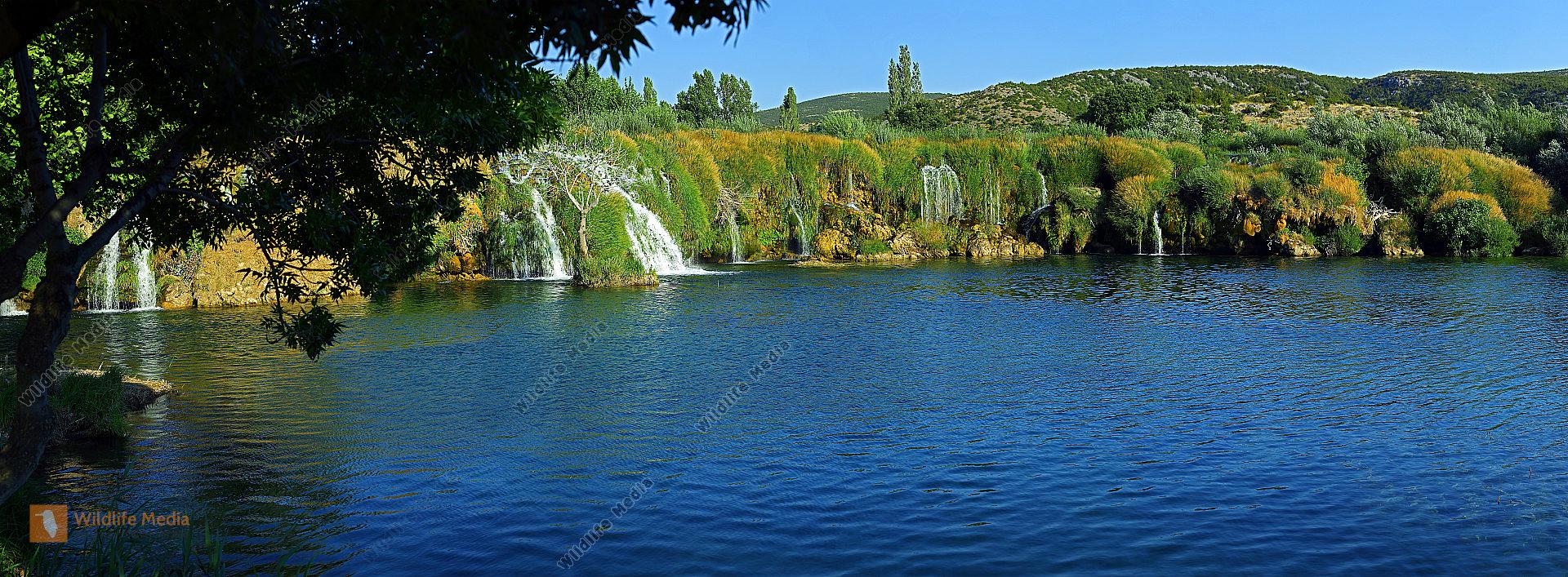 Zrmanja Wasserfälle Panorama