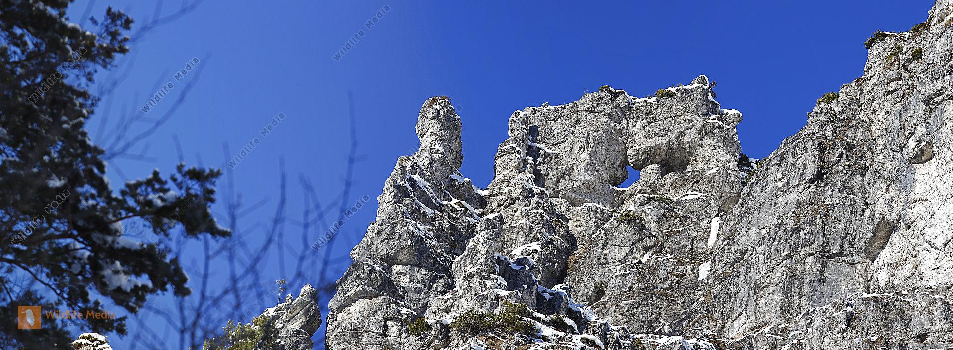 Felstürme im Winter Panorama