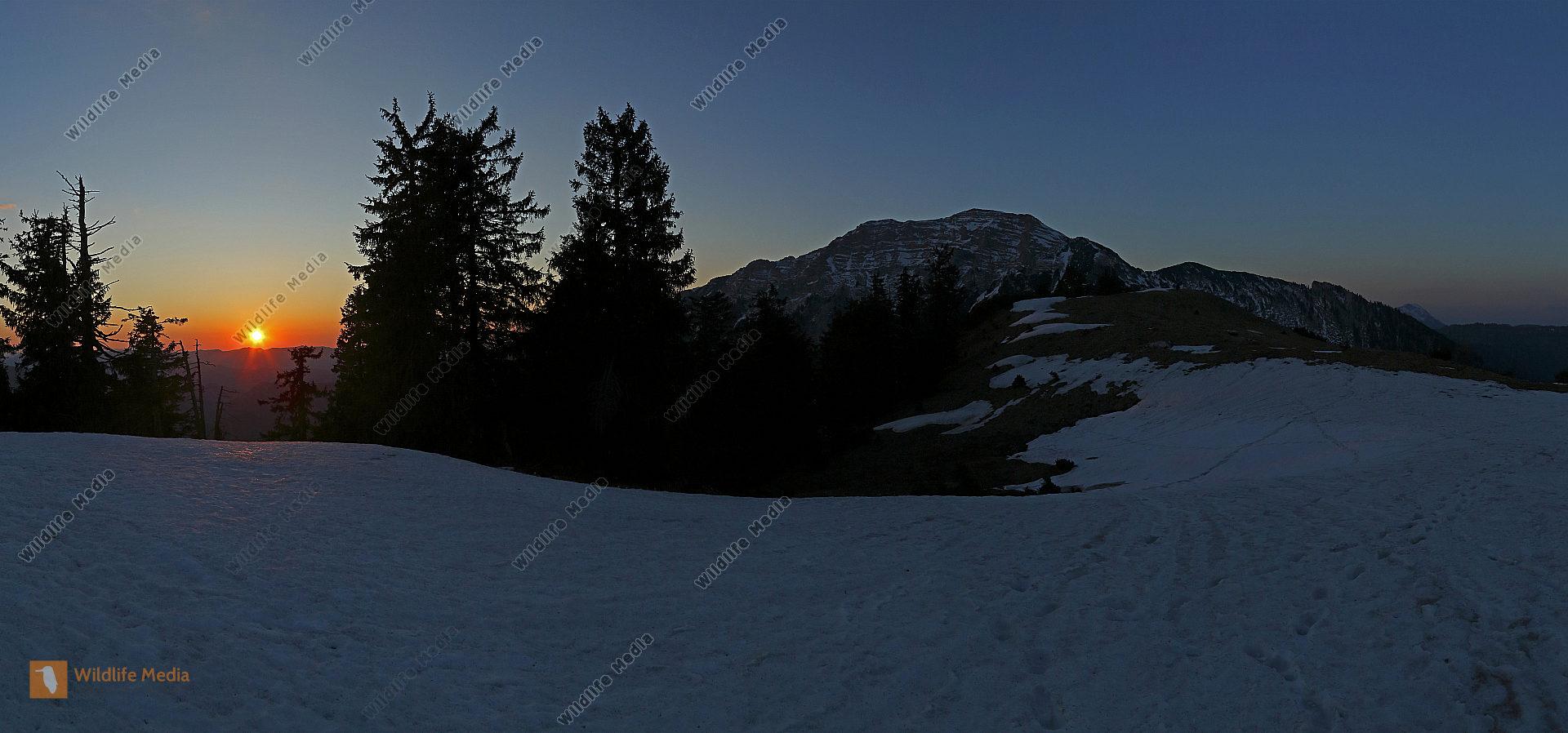 Dürrenstein Sonnenuntergang Panorama