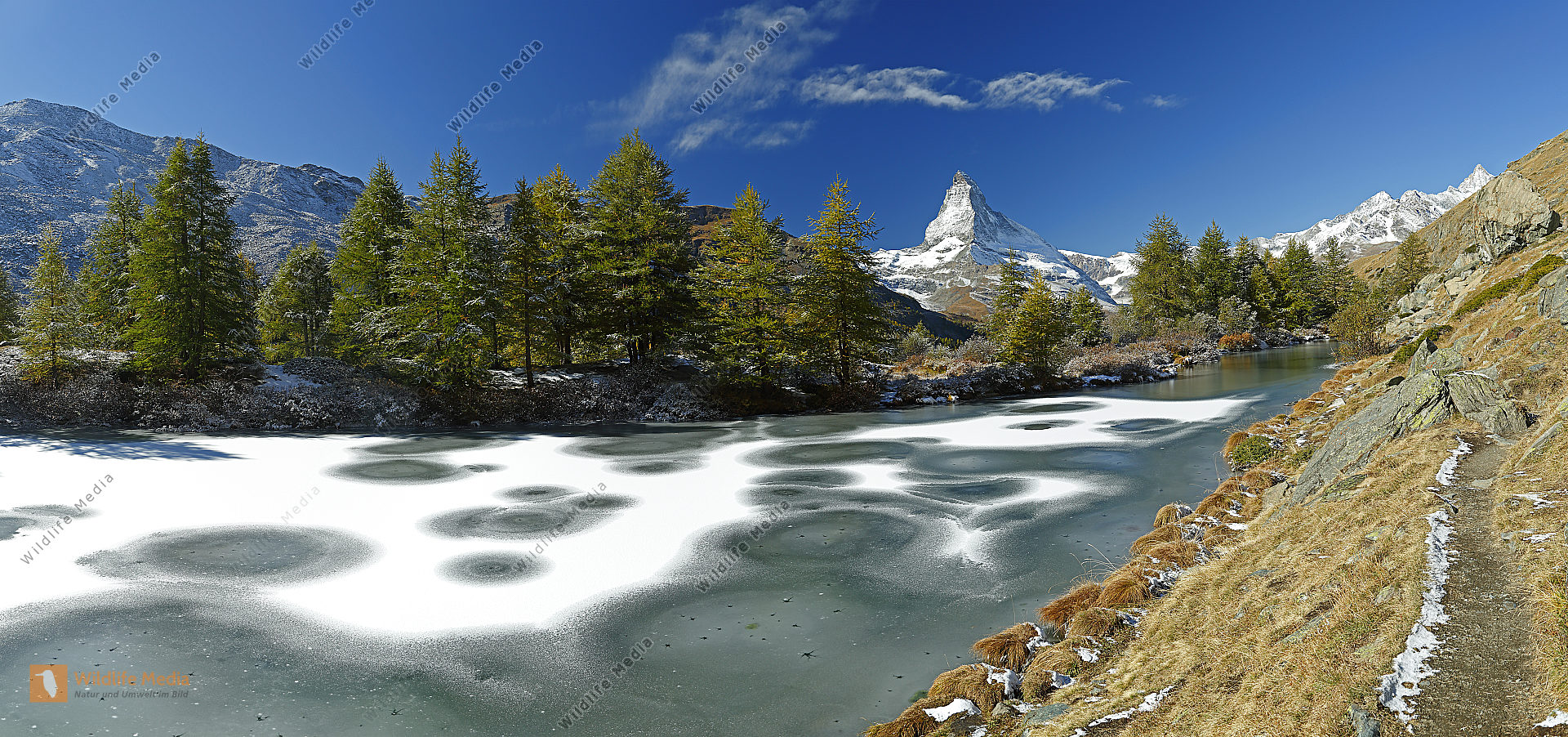 Matterhorn mit Grindjiisee Panorama