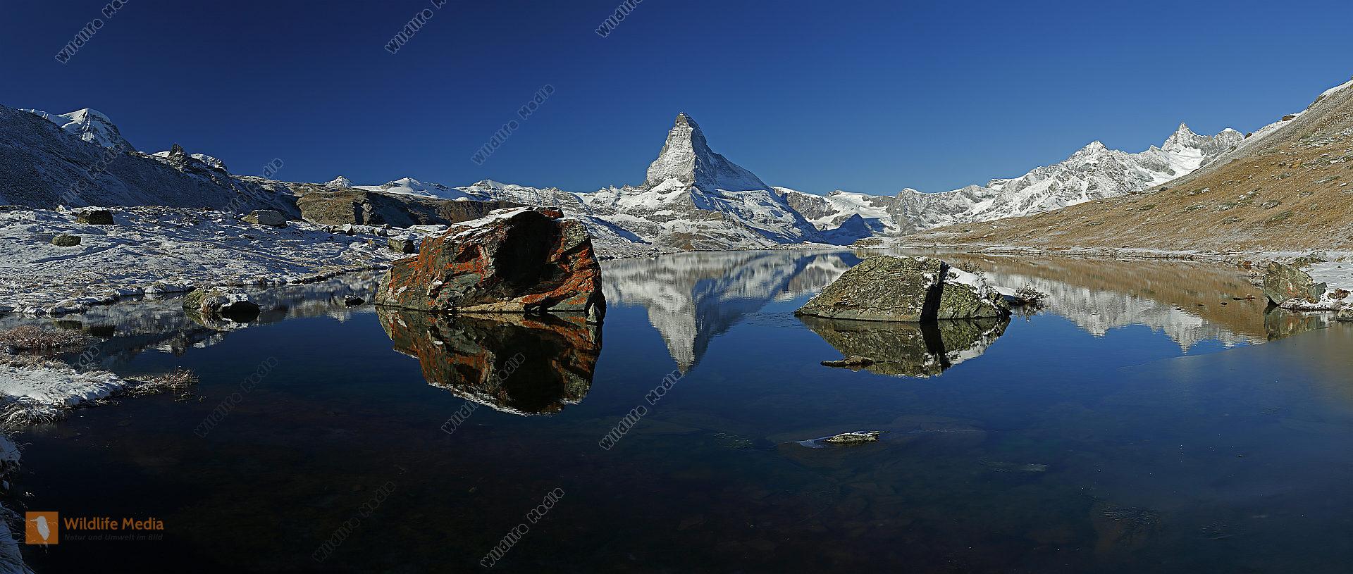 Matterhorn mit Stellisee Panorama