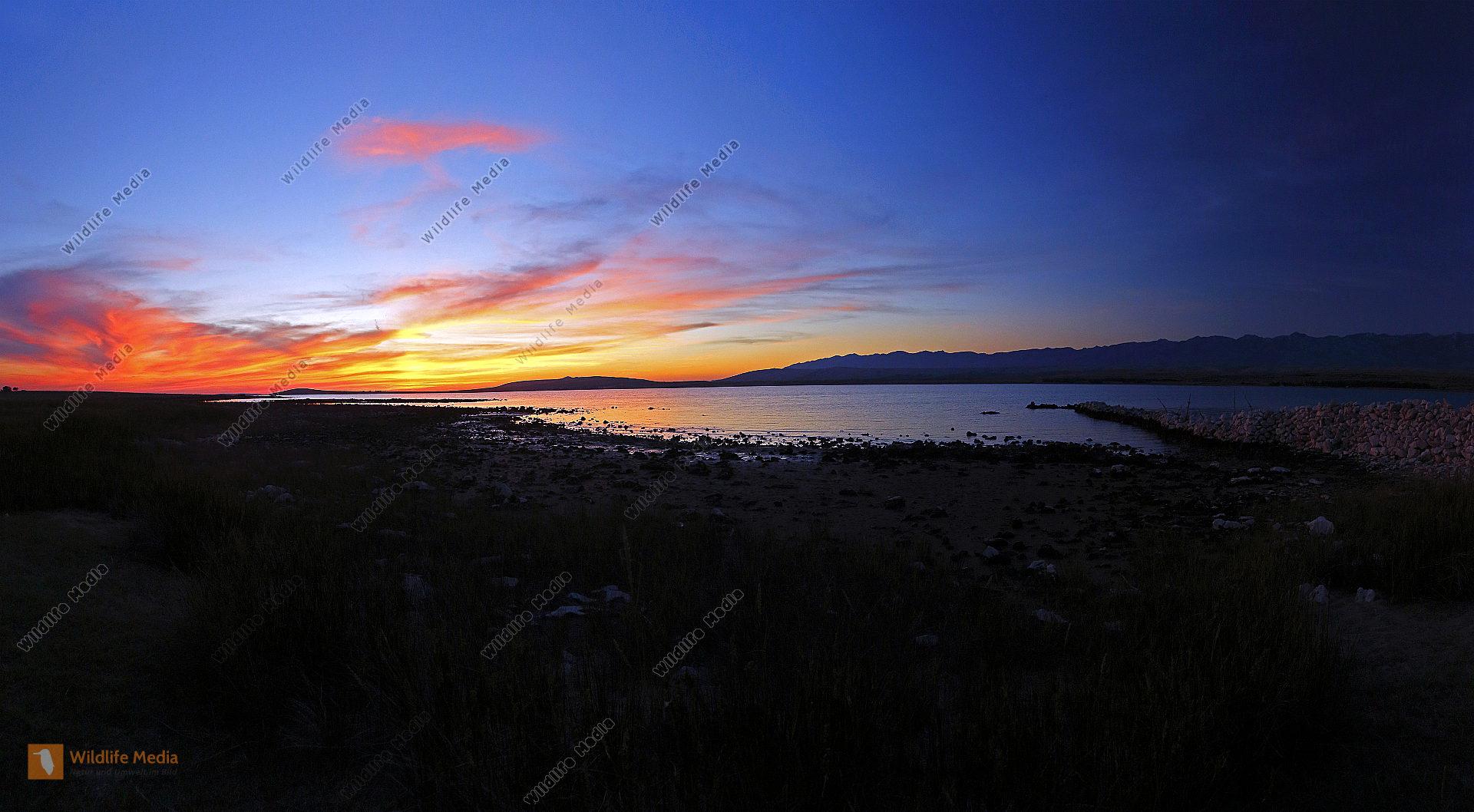 Pag Sonnenuntergang Panorama