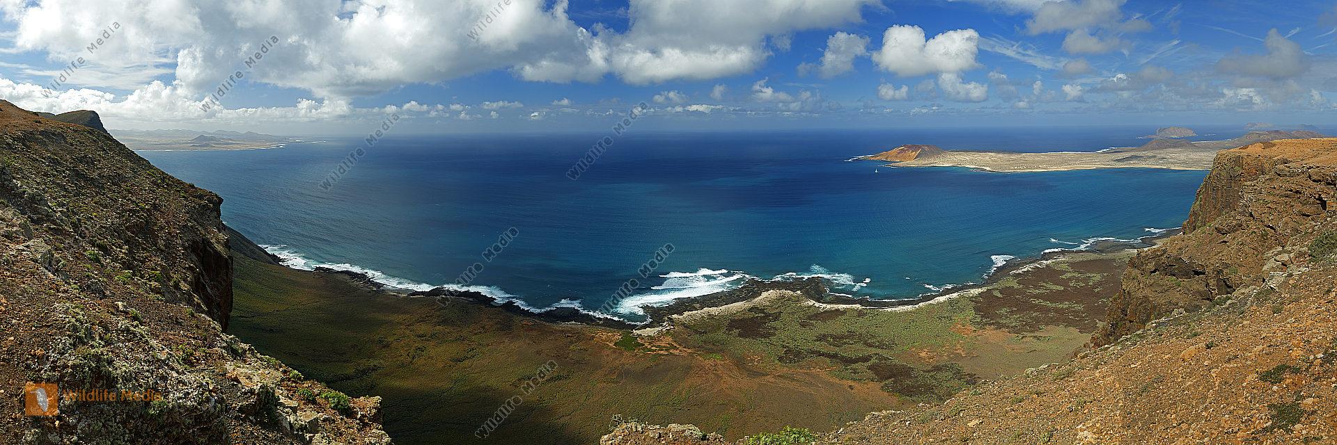 Lanzarote Landschaft Panorama