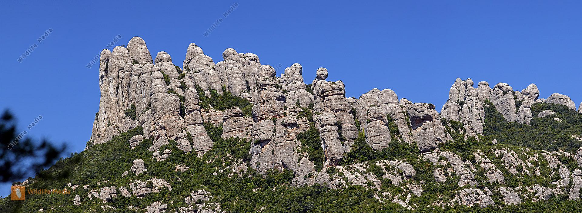 Montserrat Panorama Spanien