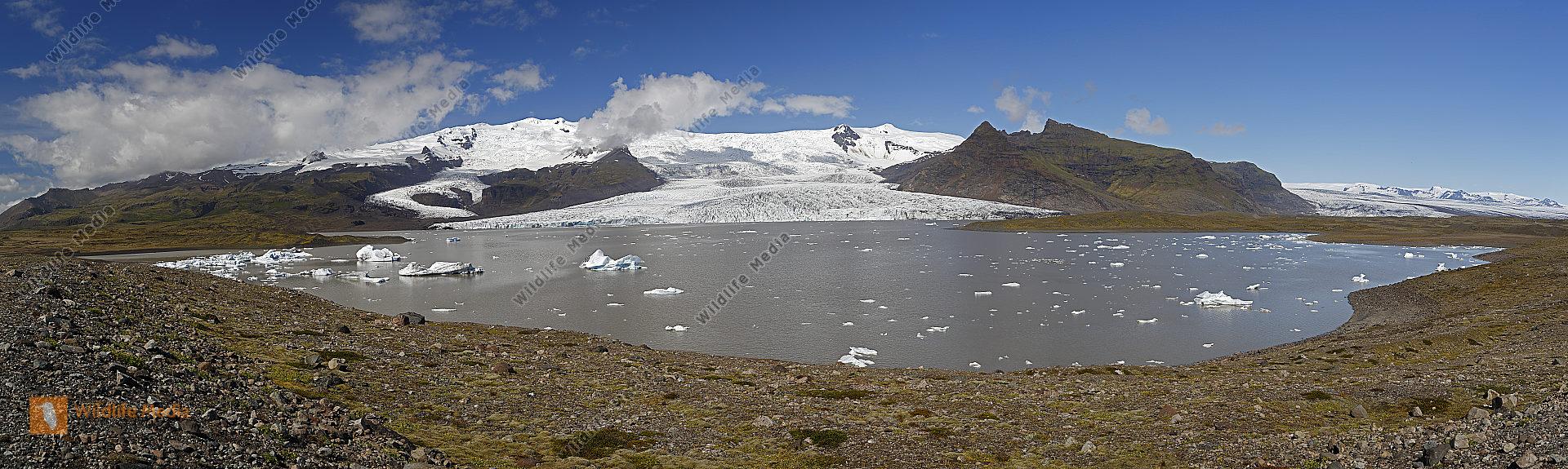 Breidarlon Gletschersee Panorama
