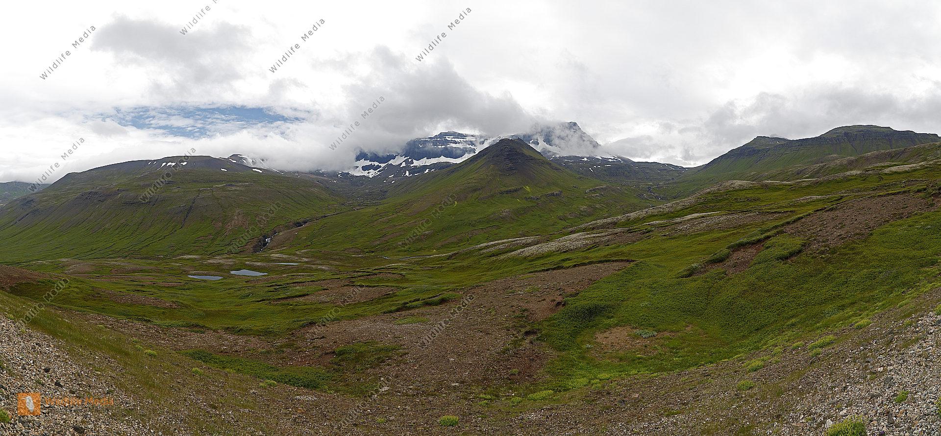 Dyrfjöll bei Bakkargerdi Panorama