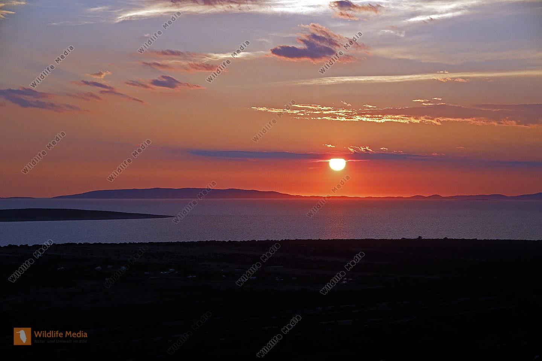 Sonnenuntergang auf Pag