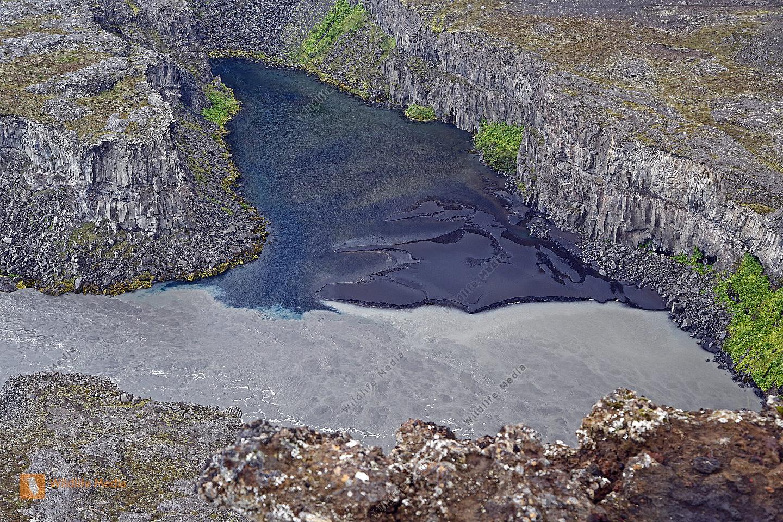 Flussdelta bei Hafragilsfoss