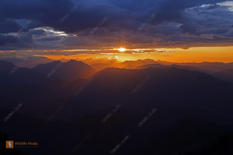 Dürrenstein Sonnenuntergang