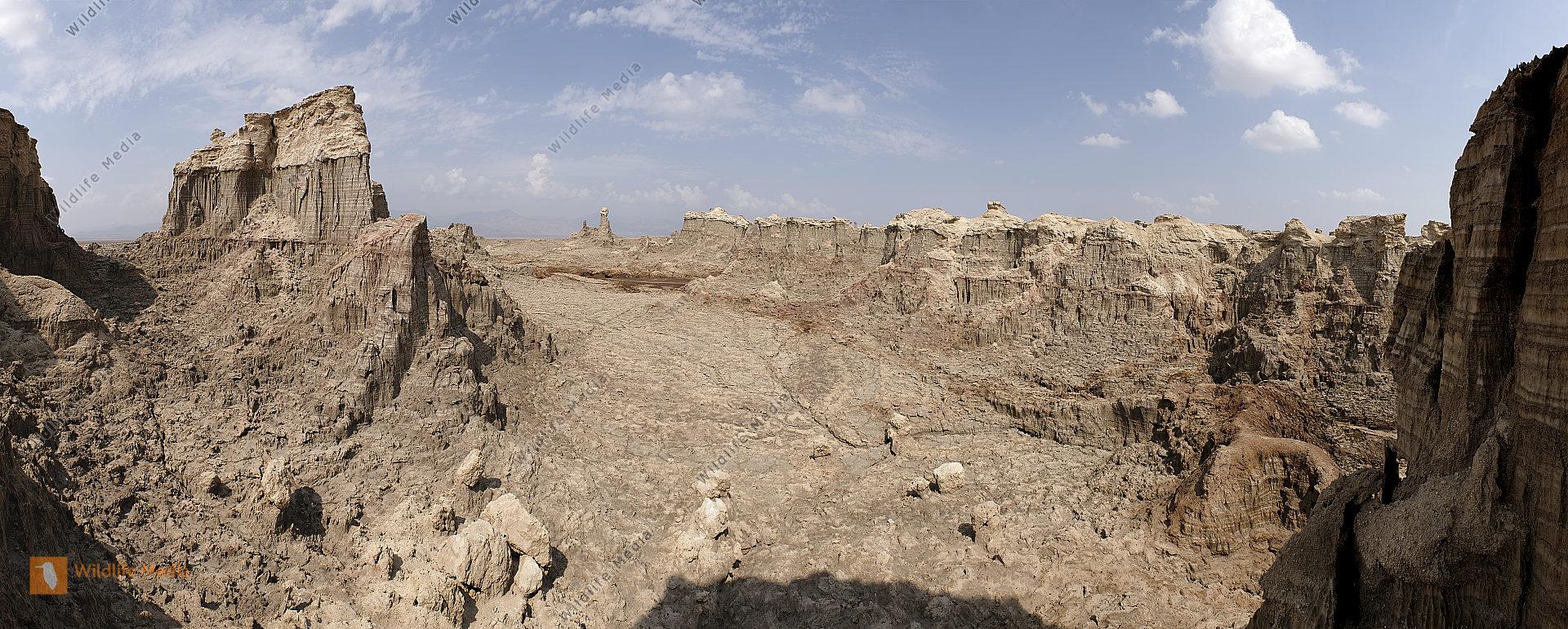 Dallol Salzsäulen Panorama