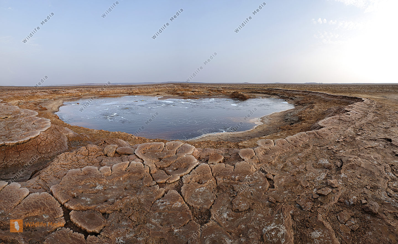 Salzsee bei Dallol Panorama
