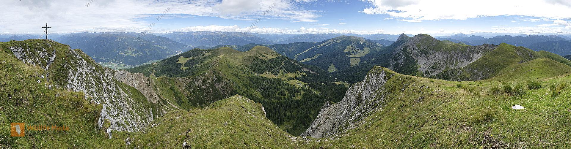 Latschur Gipfelbick Panorama