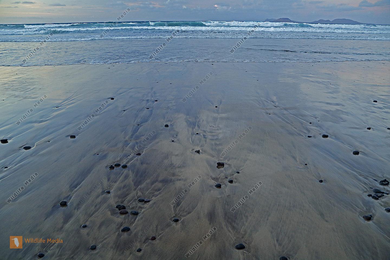 Sandstrand in Lanzarote
