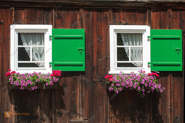 Fenster am Allgäuer Bauerhaus