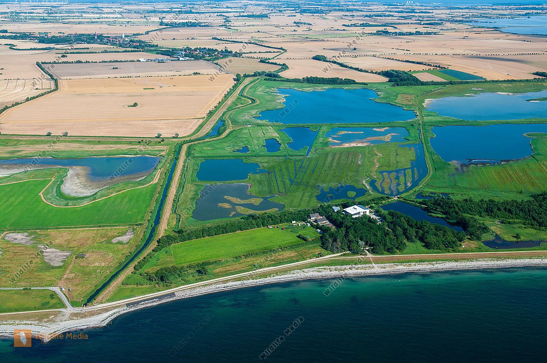 Luftbild vom Wasservogelreservat Wallnau/Insel Fehmarn