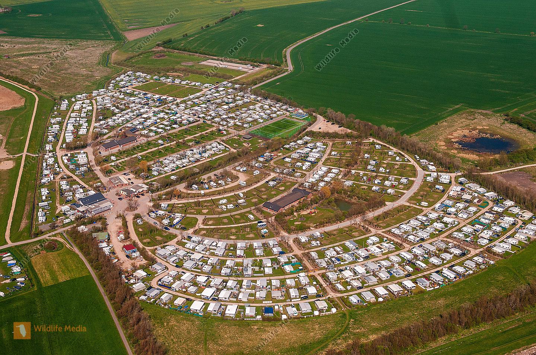 Luftbild vom Campingplatz auf der Insel Fehmarn/Ostsee