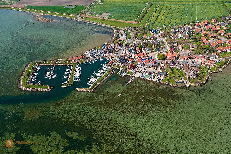Hafen von Lemkenhafen/Luftaufnahme