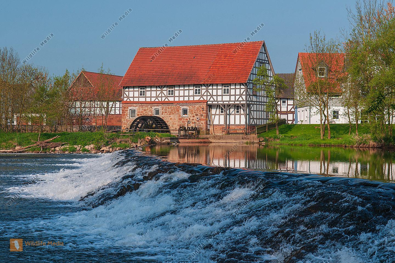 Mensch Bauwerk Bauwerke Gebäude Fachwerkhaus Fachwerkhäuser Mühle Mühlen Wassermühle Wassermühlen Wa