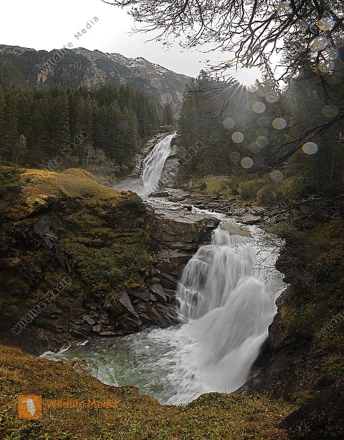 Krimmler Wasserfälle Mittlerer Fall Panorama